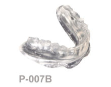 BoneModels P007B 220x174 - P-007B: Clear mandibular complete denture with perforations bone supported.
