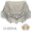 BoneModels U004A 1 100x100 - U-005: Modelo maxilar desdentado severamente atrófico con encía para el cráneo.
