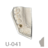 BoneModels U041 100x100 - U-042: Partially edentulous maxilla with thin ridge for bone graft augmentation in edentulous right side. Thick palatal soft tissue to take a connective tissue graft.