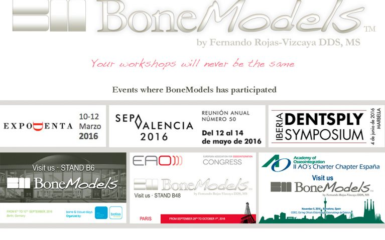 noticia eventos 2016 767x479 - BoneModels participates in national and international events during 2016