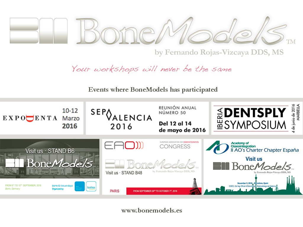 noticia eventos 2016 - BoneModels participates in national and international events during 2016